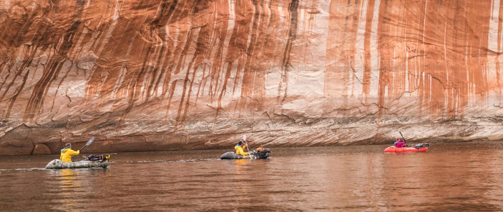 Ashley Carruth Jon Bailey Cara Kropp packrafting Lake Powell